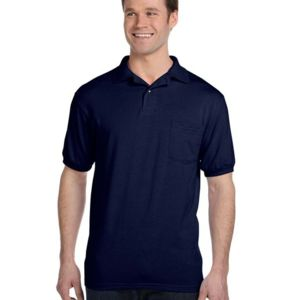 Adult 5.2 oz., 50/50 EcoSmart® Jersey Pocket Polo Thumbnail
