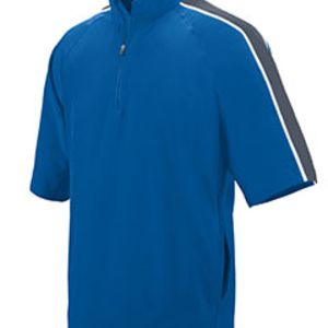 Adult Water Resistant Poly/Span Short-Sleeve Half Zip Pullover Thumbnail