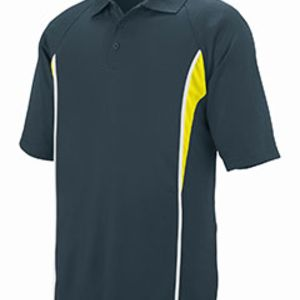 Adult Wicking Polyester Mesh Sport Shirt with Contrast Inserts Thumbnail