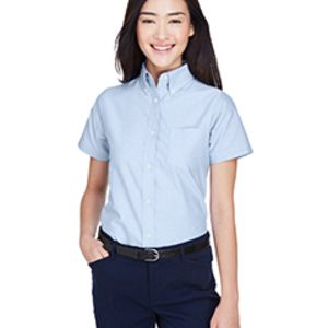 Ladies' Classic Wrinkle-Resistant Short-Sleeve Oxford Thumbnail