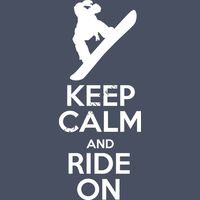 SK708 KEEP CALM AND RIDE ON Thumbnail
