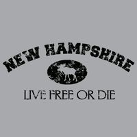 NC950FC NH Live Free or Die Distressed Moose Thumbnail